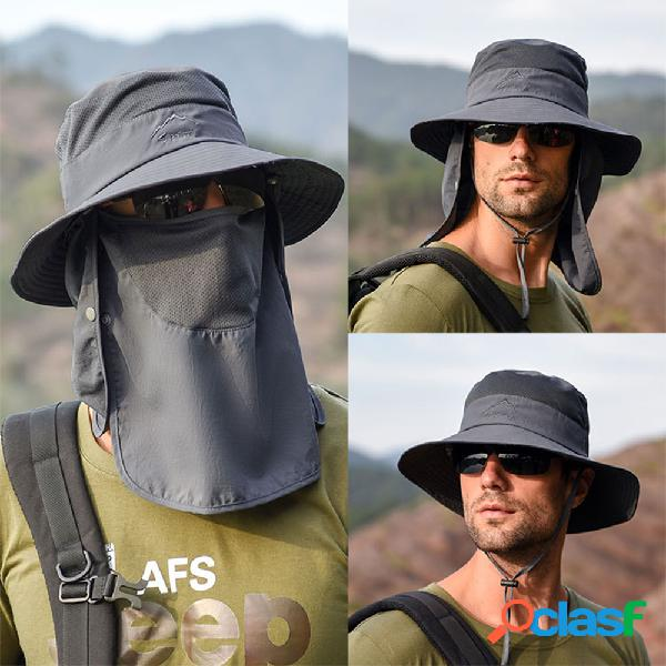 Protetor solar removível para secagem ao ar livre à prova d'água fisherman chapéu chapéu respirável