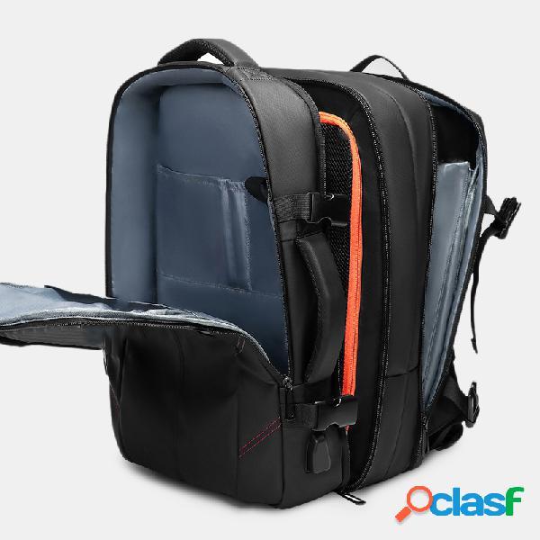 Homens 15,6 polegadas usb que carrega o portátil impermeável de negócios bolsa mochila