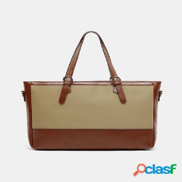 Malas de negócios de patchwork de grande capacidade para homens, laptop de 15,6 polegadas, bolsa, bolsa