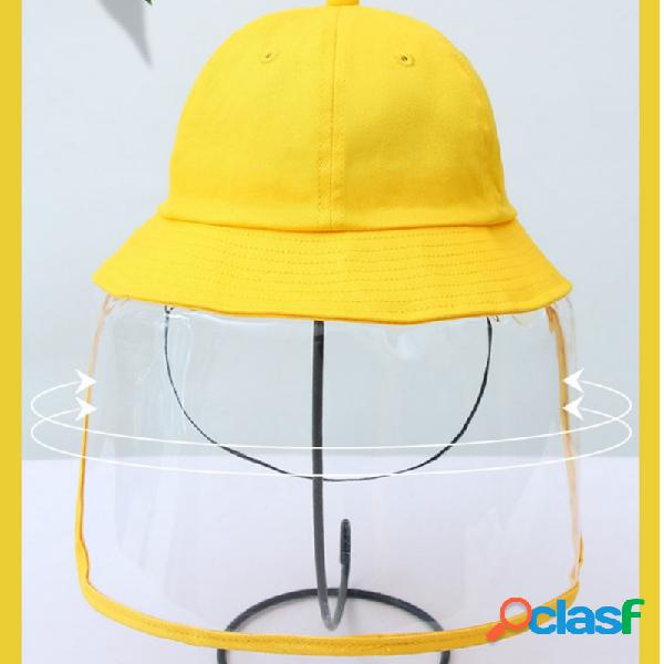 Balde à prova de poeira chapéu infantil anti-fog chapéu amarelo para meninos e meninas anti-poeira