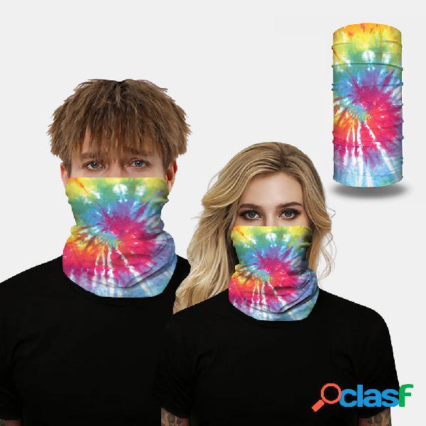 Tie dye digital impresso à prova de insetos máscara multifuncional máscara magic turban