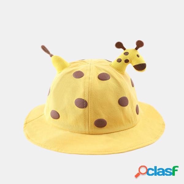 Balde para crianças de crisântemo chapéu protetor solar com tampa à prova de poeira sun chapéu