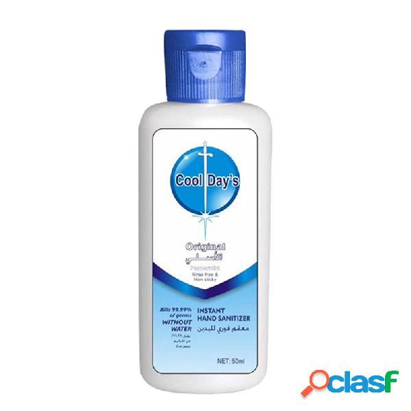Desinfetante para as mãos descartável 50ml 75% álcool gel desinfetante portátil sem lavagem