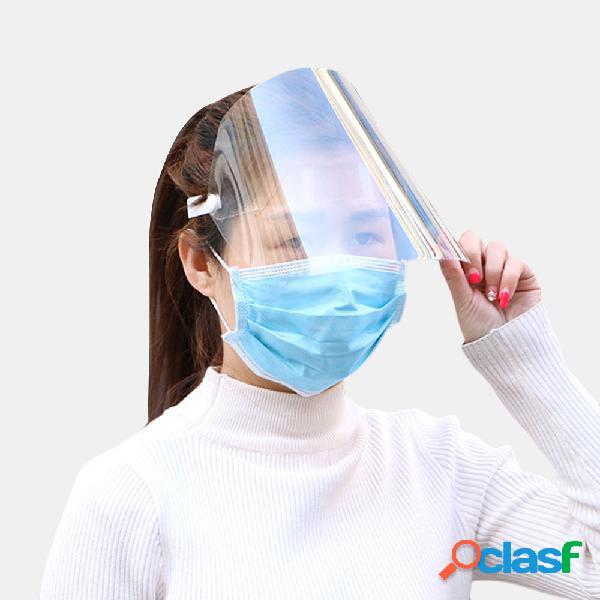 Collrown rosto inteiro à prova de salpicos transparente top vazio chapéu tela de rosto removível à prova de poeira