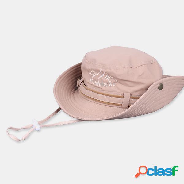 Pesca chapéu verão proteção solar ao ar livre lazer caminhadas chapéu
