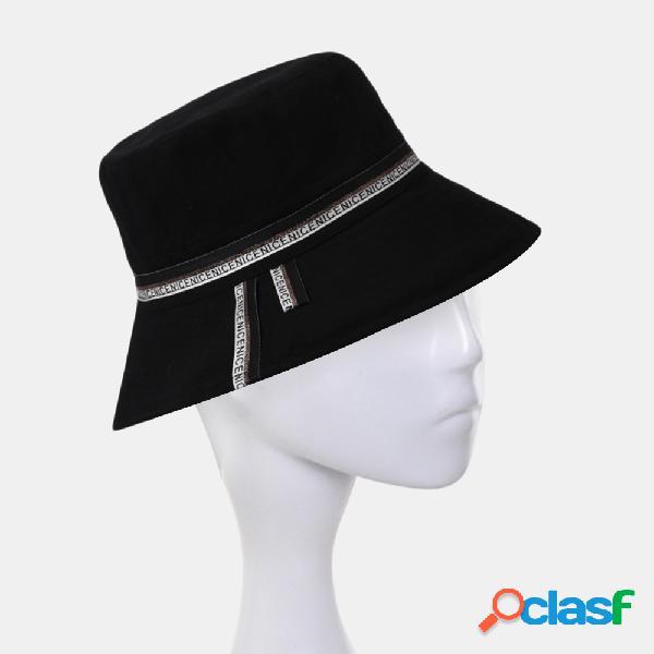 Collrown algodão balde cap sombra grande borda cor sólida pescador chapéu