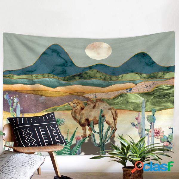 Mandala hippie caveira tapeçaria tapeçaria tarot noite chakra psicodélico tapeçaria cobertor lua