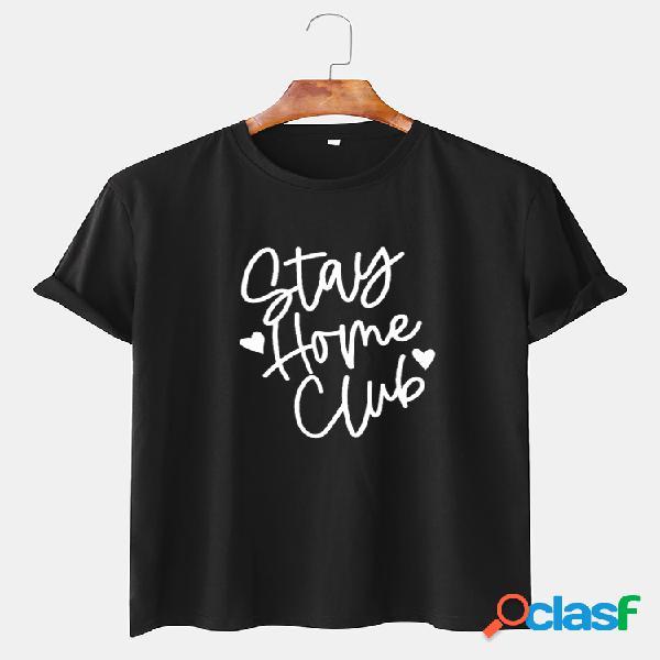 Mens slogan engraçado impresso algodão respirável t-shirt de manga curta