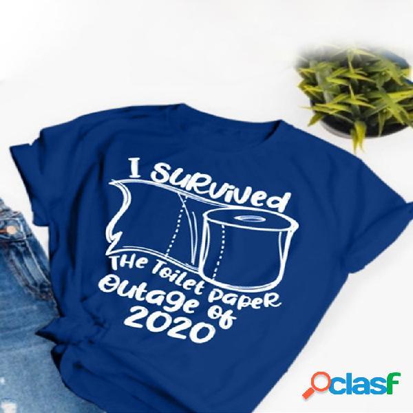 Camiseta de manga curta com decote em v dos desenhos animados