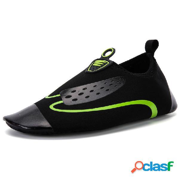 Secagem rápida masculina praia sapatos de água soft sapatos de mergulho