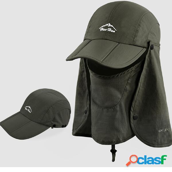 Proteção solar dobrável capa viseira rosto pesca ao ar livre chapéu verão boné de secagem rápida respirável chapéu boné de beisebol