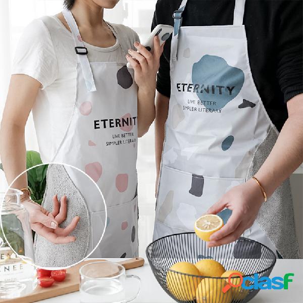 Avental de cozinha avental à prova d 'água limpável à moda feminina moda bonito cintura cozinha à prova de bata homens