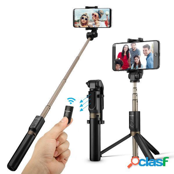 Blitzwolf bluetooth selfie varanda tripé 3 em 1 monopé expansível selfie sem fio varanda varanda rotação de 360 ° com versão bluetooth remoto para iphone android samsung smartphones de 3,5-6