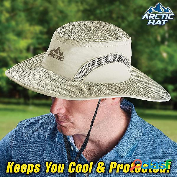 Protetor solar de resfriamento chapéu balde de proteção de insolação de calota de gelo chapéu sol chapéu com uv pesca de proteção chapéu