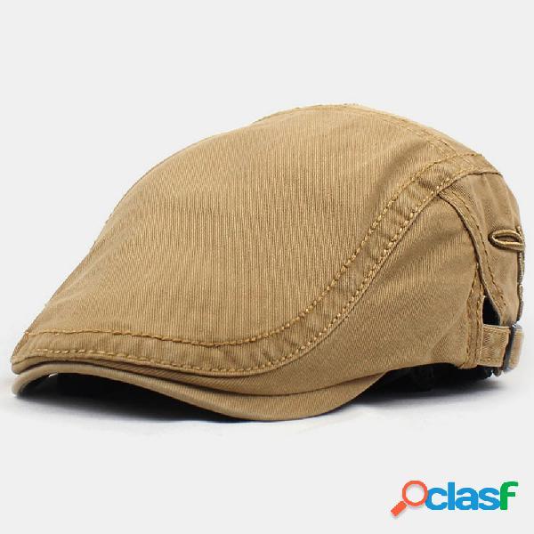 Boina masculina bordada de algodão para pintar bonés viseira casual ao ar livre para frente chapéu