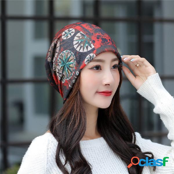 Respirável chemo cap imprimir beanie turban outdoor cap