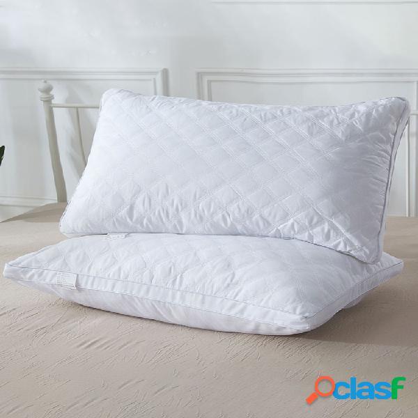 Whatsbedding travesseiros de pena de ganso naturais para dormir colecção de hotel travesseiros de cama brancos - 100% capa de algodão respirável para a pele