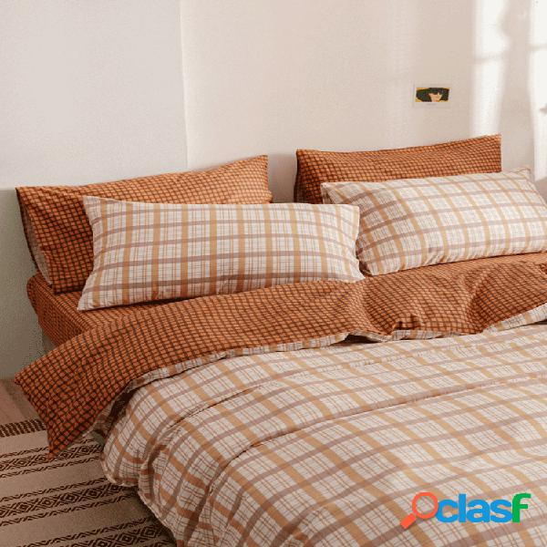 3 unidades / conjuntos conjuntos de edredom 100% algodão conjunto de capa de edredom
