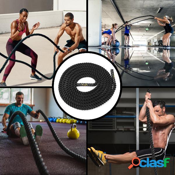3.8x9cm comprimento ondulação do treinamento de força do exercício corda aptidão equipamento casa academia ferramentas de exercício