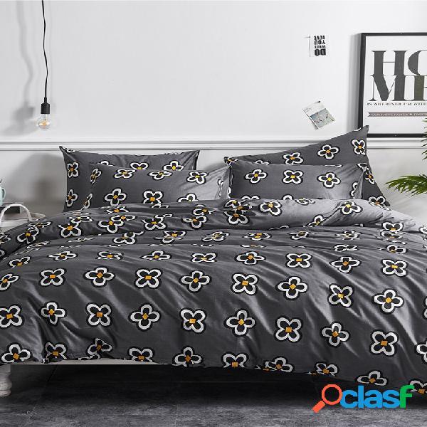 Conjuntos de roupa de cama de algodão de cetim lençóis de colcha kit de três peças capa de edredom capa de cama kit de algodão