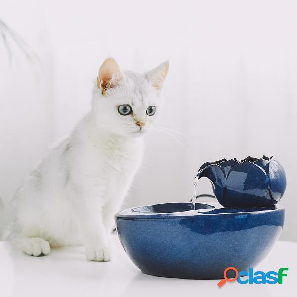 Cat water dispenser pet cachorro suprimentos fonte de água corrente água corrente gato água de alimentação água potável artefato circulação automática