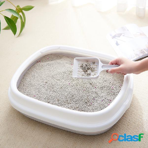 Pet litter caixa semi-fechado destacável anti-salpicos cat toalete para enviar cat sand shovel