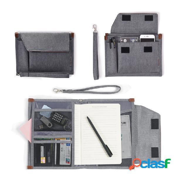 Armazenamento de arquivos bolsa id do documento multicamada comercial bolsa dados portáteis bolsa passaporte multifuncional bolsa