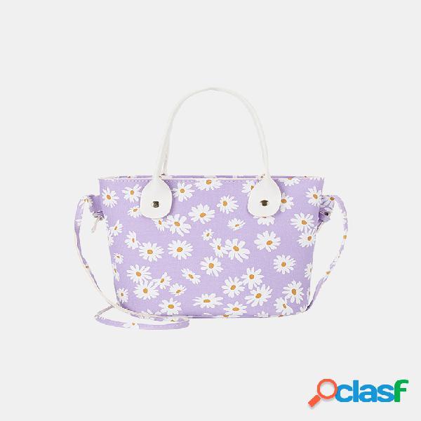 Mulheres daisy bucket bolsa satchel bolsa crossbody bolsa
