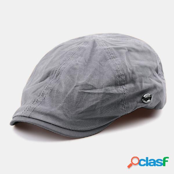 Estilo artista literário de algodão masculino visor protetor solar de verão para frente chapéu boina chapéu bonés planos