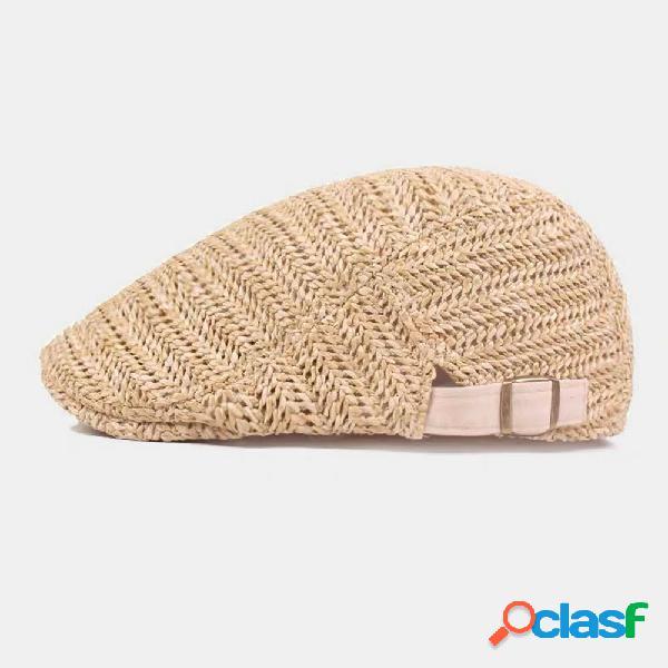 Estilo britânico tecido moda go out peaked chapéu artista boina chapéu forward chapéu para macho feminino boné plano