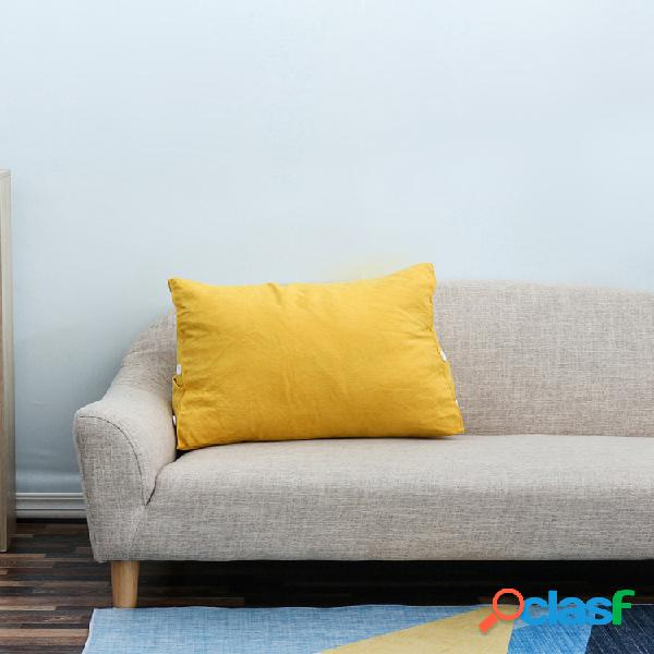 Almofada triangular para leitura de cunha travesseiro nas costas soft almofada de daybed com bolso para telefone e capa removível