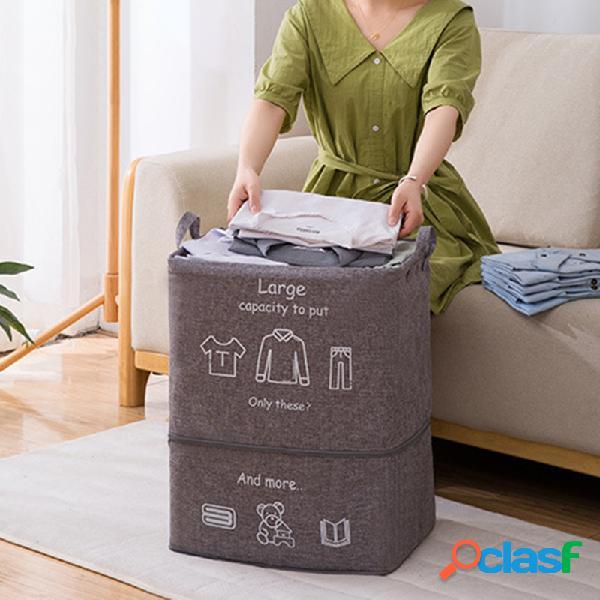 Roupas sujas dobráveis armazenamento de brinquedo gigante azul bolsa estrutura de armazenamento de colcha com zíper de armazenamento bolsa