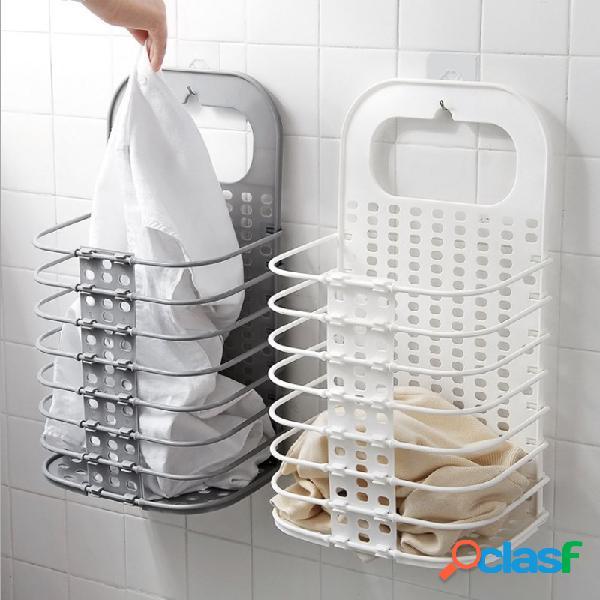 Cesta de armazenamento de roupa suja cesta de roupa suja dobrável armazenamento de roupas casa da lavanderia