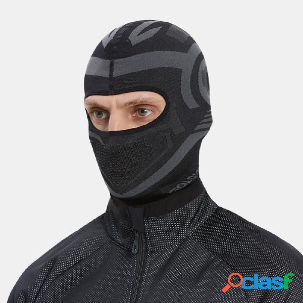 Men plus espesso de secagem rápida respirável mantenha aquecido esqui esqui proteção facial ao ar livre tiara de malha máscara