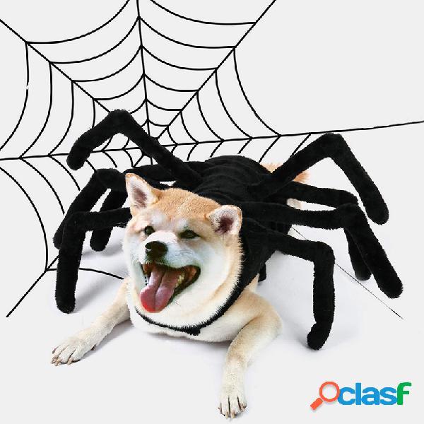 Animal de estimação halloween engraçado aranha peito voltar criativo gato cachorro pequeno cachorro traje de transformação