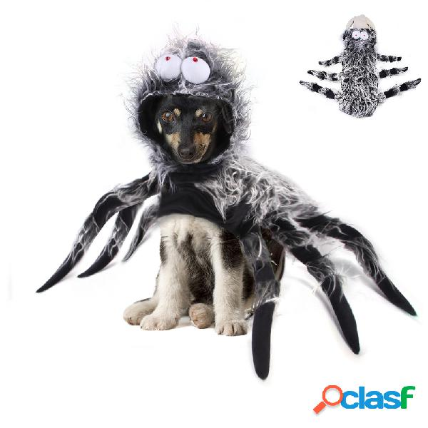 Animal de estimação halloween engraçado grande aranha peito voltar criativo gato cachorro grande cachorro traje de transformação