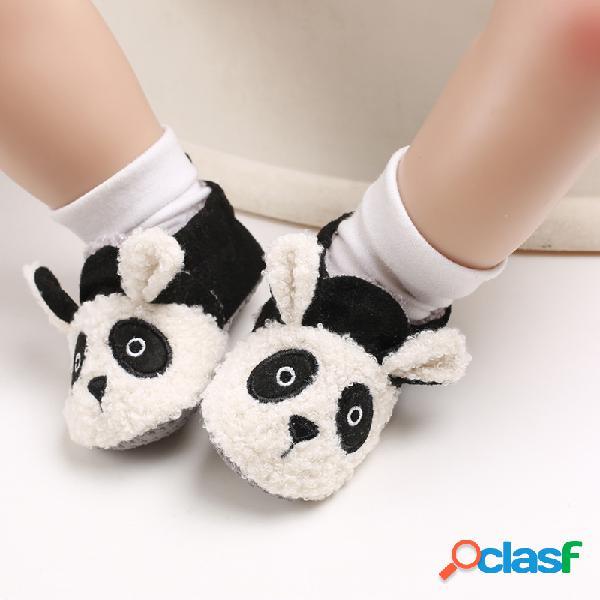 Sapatos de bebê meninas meninos de pelúcia fofa soft sola antiderrapante botas quentes de neve