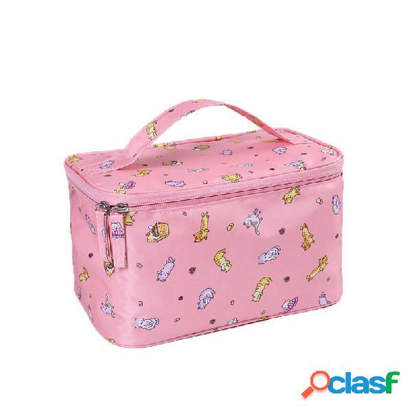 Armazenamento fresco pequeno pequeno bolsa do curso cosméticos portáteis bolsa das senhoras lavagem portátil bolsa do curso armazenamento cosmético bolsa