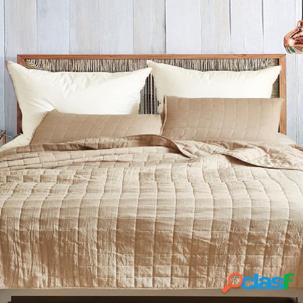 Cobertor de colcha de verão de luxo com malha sólida espessa soft quilt 3 unidades / conjunto colchas de colcha conjunto de colcha de colcha us queen