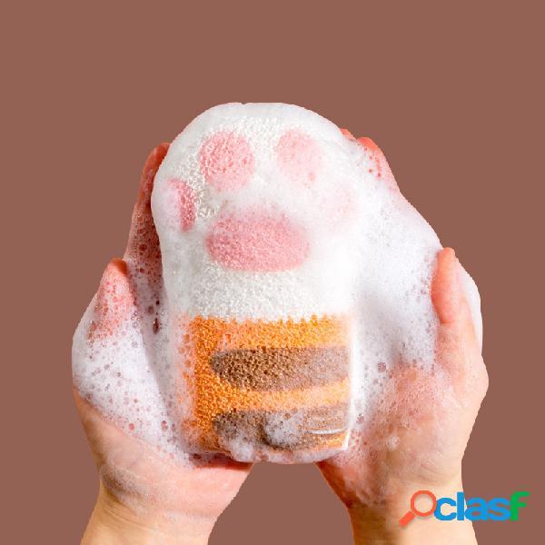 Algodão de pata de gato banheiro bola de banho de bebê esponja de banho de artefato de bebê esponja de banho para crianças toalha banho de esfregar
