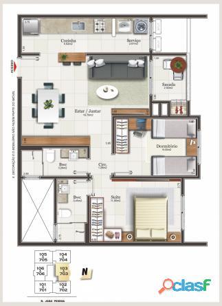 Maraville Centro Criciúma apartamento venda 3