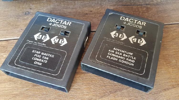 Atari Milmar Dactar Com Caixa, 8 Jogos E Dynastick Na Caixa