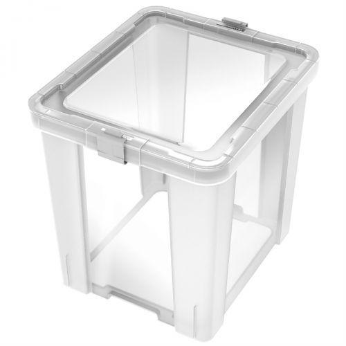Caixa organizadora office 42 litros transparente 92552011