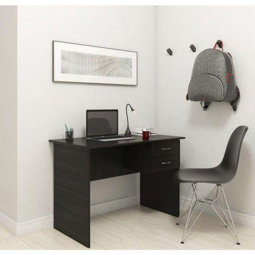 Mesa escrivaninha madri 02 gavetas - preto