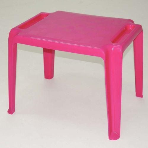 Mesa quadrada tramontina dona chica rosa