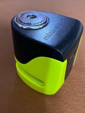 Trava de disco kovix ks6 alarme moto bateria recarregavel