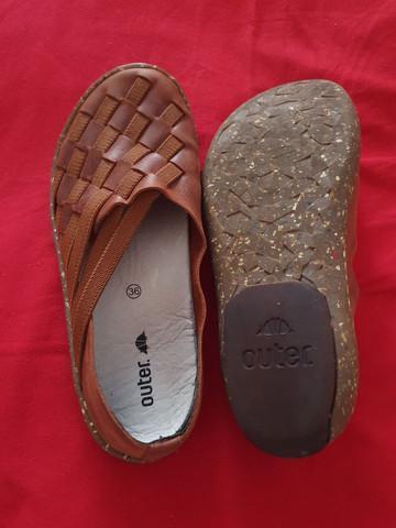 Ano novo!!! preço novo!!!sapatilha unissex de couro outer