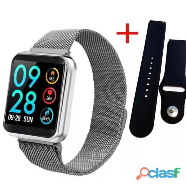 Relógio Smartwatch P70 Monitor Cardíaco Pressão Arterial Android IOS 1