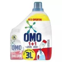 App] kit sabão para diluir omo 500ml com garrafa <div