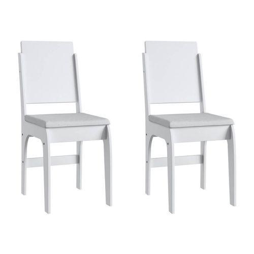 Cadeiras mdf brancas com o assento branco lilies m/u00f3veis
